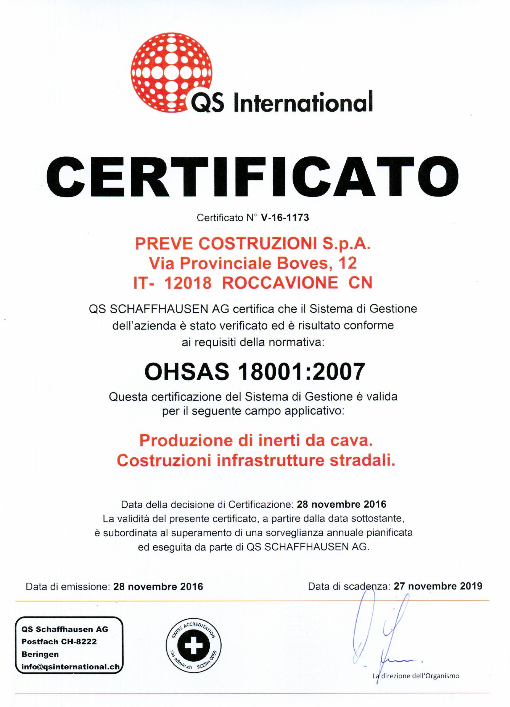 2016_2019 CERTIFICATO QS PREVE COSTRUZIONI