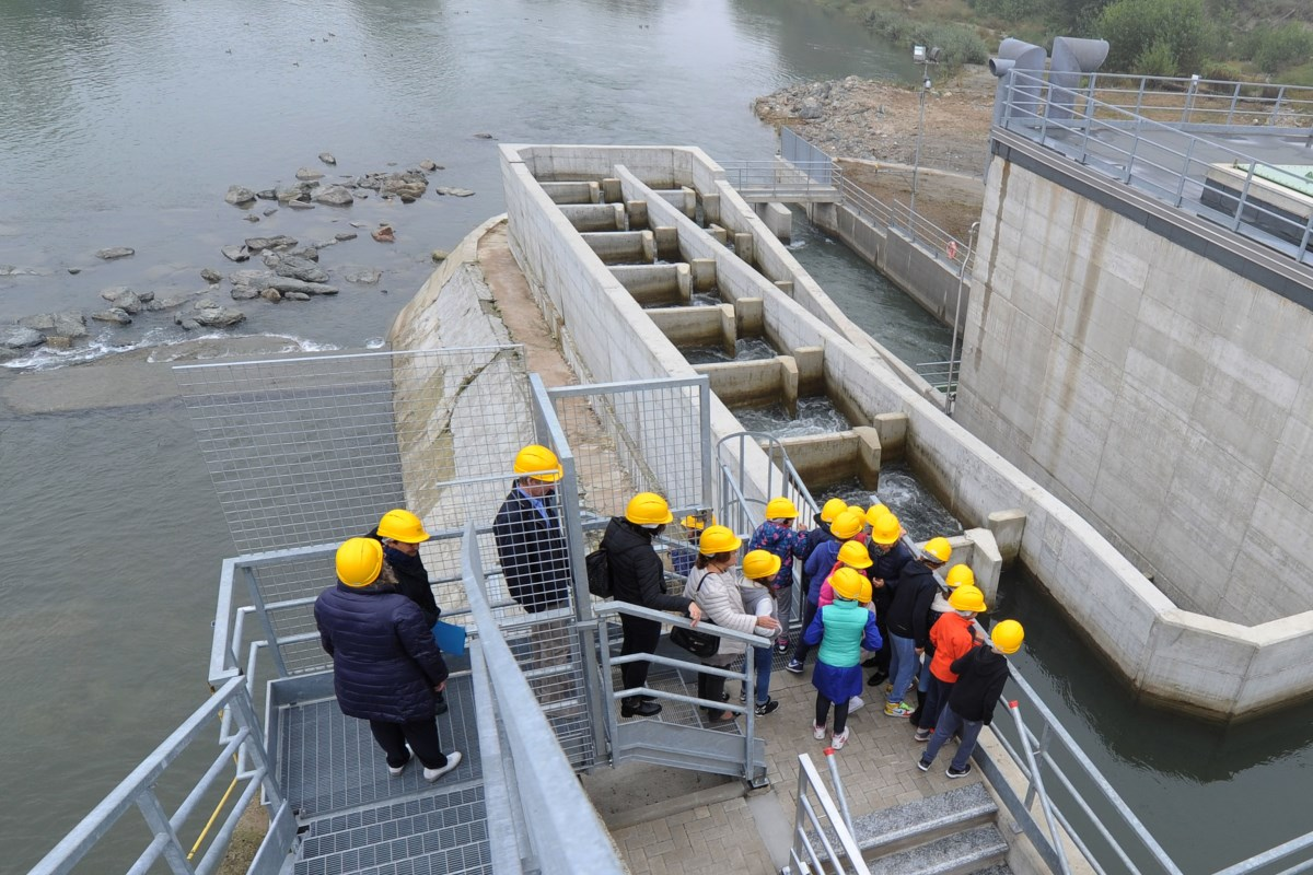 La Loggia ( Loc. Belvedere ) - Inaugurazione scala di risalita pesci sul fiume Po con annesso recupero energetico - foto Simone Vittonetto/IREN